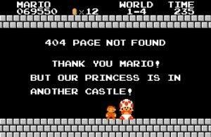 mario 404 amazing error page