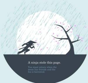 ninja 404 error page