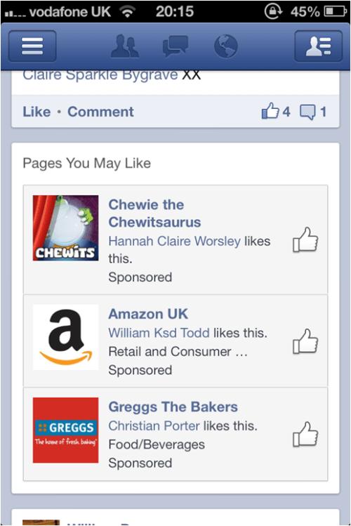 facebook mobile advertising