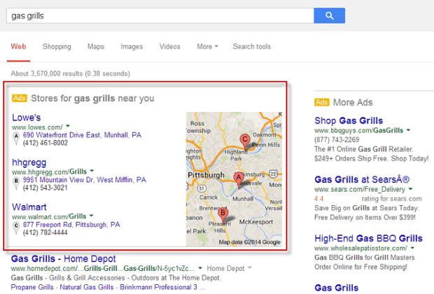 local adwords monetisation