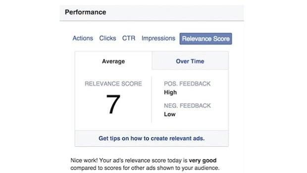 facebook quality score visual